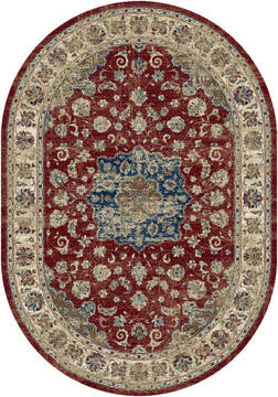"Dynamic ANCIENT GARDEN Red Oval 2'7"" X 4'7"" Area Rug ANOV35575591464 801-120070"