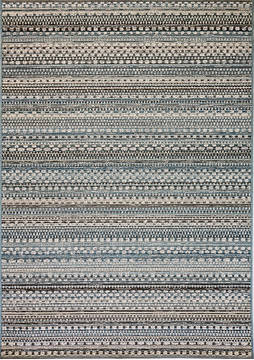 Dynamic BRIGHTON Blue Rectangle 5x8 ft  Carpet 120356