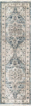 "Dynamic JUNO Blue Runner 2'2"" X 7'5"" Area Rug JN286882500 801-121464"