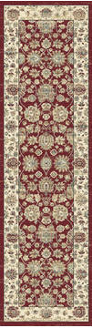 "Dynamic PEARL Red Runner 2'2"" X 7'7"" Area Rug PE283743130 801-122162"