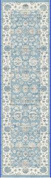 "Dynamic PEARL Blue Runner 2'2"" X 7'7"" Area Rug PE283743500 801-122169"