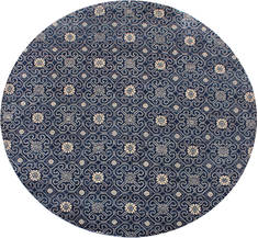 "Modern Blue Round Hand Knotted 9'11"" X 9'11""  Area Rug 904-123133"