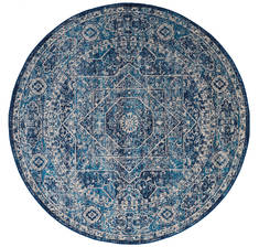 United Weavers Abigail Blue Round 7 to 8 ft Olefin Carpet 123243
