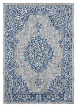 "United Weavers Augusta Blue 5'0"" X 7'0"" Area Rug 3900 10260 69 806-123357"