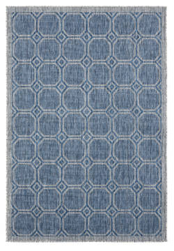 "United Weavers Augusta Blue 5'0"" X 7'0"" Area Rug 3900 10660 69 806-123387"