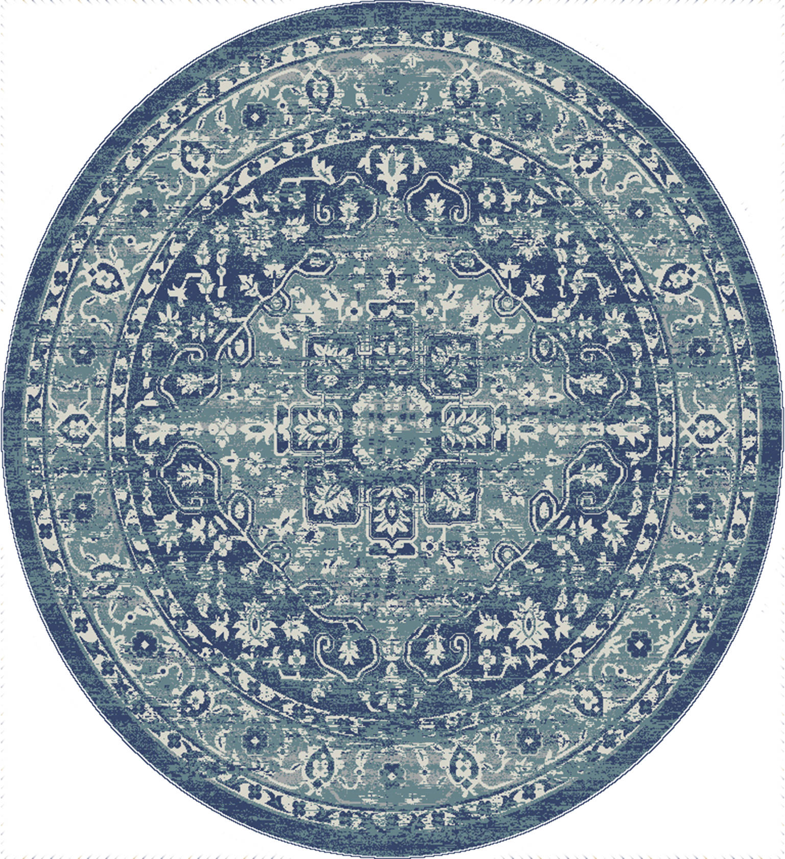 Picture of: United Weavers Bali Blue Round 7 To 8 Ft Olefin Carpet 123452 Sku 123452
