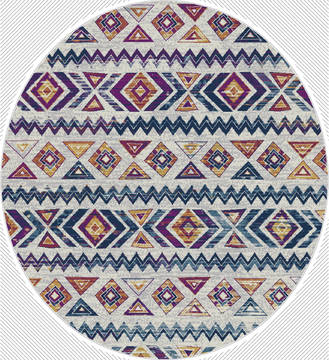 "United Weavers Bali Multicolor Round 7'0"" X 7'0"" Area Rug 1815 30875 88R 806-123487"