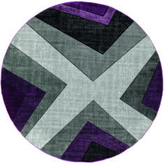 "United Weavers Bristol Purple Round 7'0"" X 7'0"" Area Rug 2050 10082 88R 806-123574"