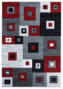 "United Weavers Bristol Red Runner 2'0"" X 7'0"" Area Rug 2050 10230 28C 806-123613"