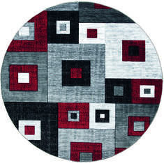 "United Weavers Bristol Red Round 7'0"" X 7'0"" Area Rug 2050 10230 88R 806-123616"