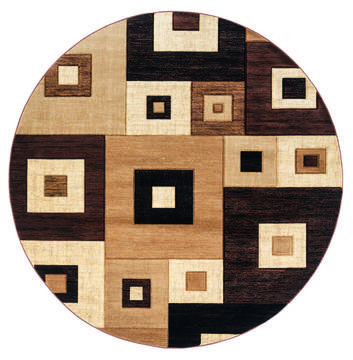 "United Weavers Bristol Brown Round 7'0"" X 7'0"" Area Rug 2050 10250 88R 806-123628"