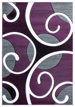 "United Weavers Bristol Purple 5'0"" X 7'0"" Area Rug 2050 10382 69 806-123669"