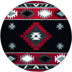 "United Weavers Bristol Red Round 7'0"" X 7'0"" Area Rug 2050 10430 88R 806-123682"