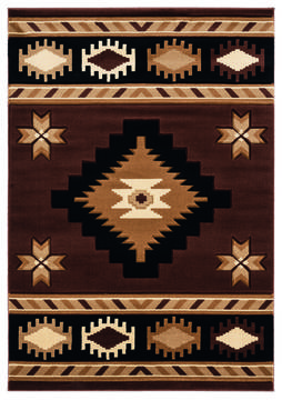"United Weavers Bristol Brown Runner 2'0"" X 7'0"" Area Rug 2050 10450 28C 806-123691"
