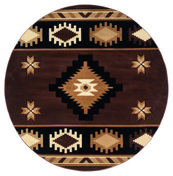 "United Weavers Bristol Brown Round 7'0"" X 7'0"" Area Rug 2050 10450 88R 806-123694"