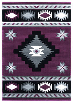 "United Weavers Bristol Purple Runner 2'0"" X 7'0"" Area Rug 2050 10482 28C 806-123703"