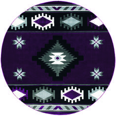 "United Weavers Bristol Purple Round 7'0"" X 7'0"" Area Rug 2050 10482 88R 806-123706"