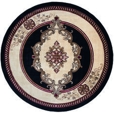 "United Weavers Bristol Black Round 7'0"" X 7'0"" Area Rug 2050 10570 88R 806-123754"