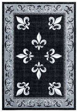 "United Weavers Bristol Black Runner 2'0"" X 7'0"" Area Rug 2050 11070 28C 806-123805"