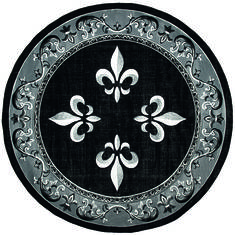 "United Weavers Bristol Black Round 7'0"" X 7'0"" Area Rug 2050 11070 88R 806-123808"