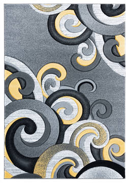 "United Weavers Bristol Yellow Runner 2'0"" X 7'0"" Area Rug 2050 11312 28C 806-123841"