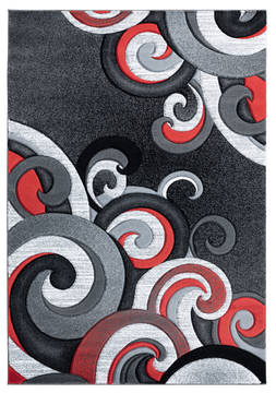 "United Weavers Bristol Red 7'0"" X 10'0"" Area Rug 2050 11330 912 806-123851"