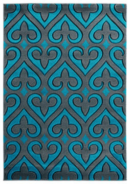 "United Weavers Bristol Blue 7'0"" X 10'0"" Area Rug 2050 11469 912 806-123869"