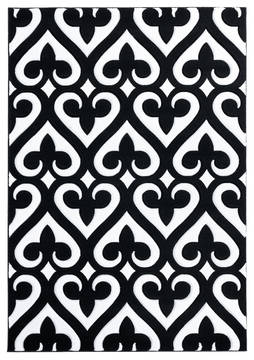"United Weavers Bristol Black 1'0"" X 2'0"" Area Rug 2050 11470 24 806-123870"
