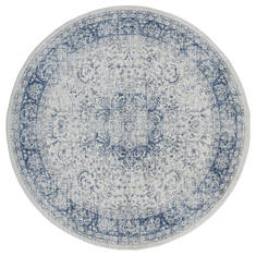 "United Weavers Clairmont Blue Round 7'0"" X 7'0"" Area Rug 4000 40061 88R 806-124046"