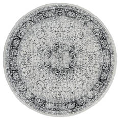 "United Weavers Clairmont Grey Round 7'0"" X 7'0"" Area Rug 4000 40076 88R 806-124060"