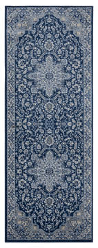 "United Weavers Clairmont Blue Runner 2'0"" X 7'0"" Area Rug 4000 40161 28E 806-124072"