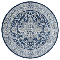 "United Weavers Clairmont Blue Round 7'0"" X 7'0"" Area Rug 4000 40161 88R 806-124074"