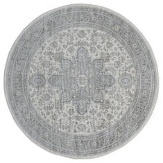 "United Weavers Clairmont Grey Round 7'0"" X 7'0"" Area Rug 4000 40172 88R 806-124081"