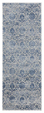 "United Weavers Clairmont Blue Runner 2'0"" X 7'0"" Area Rug 4000 40261 28E 806-124093"