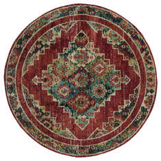"United Weavers Marrakesh Red Round 7'0"" X 7'0"" Area Rug 3801 30533 88R 806-124343"