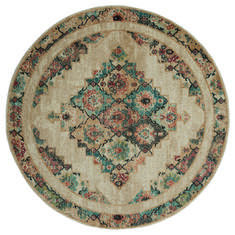 "United Weavers Marrakesh Beige Round 7'0"" X 7'0"" Area Rug 3801 30590 88R 806-124350"