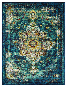"United Weavers Panama Jack Bohemian Blue 7'0"" X 10'0"" Area Rug 1831 30163 912 806-124620"