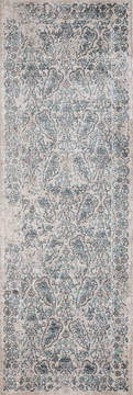 United Weavers Soignee Blue Runner 6 to 9 ft Polyester Carpet 124985