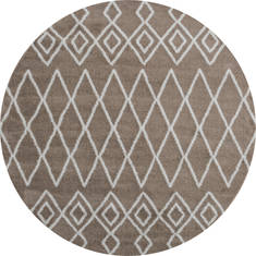 "United Weavers Tranquility Beige Round 7'0"" X 7'0"" Area Rug 1840 20126 88R 806-125134"