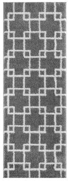 "United Weavers Tranquility Grey Runner 2'0"" X 7'0"" Area Rug 1840 20572 28E 806-125227"