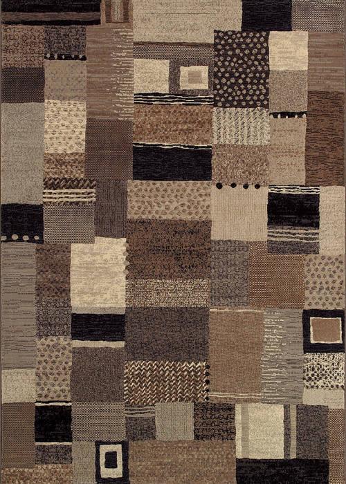 Couristan Easton Brown Rectangle 3x5 Ft Polypropylene Carpet 126542 Sku 126542