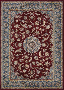 "Couristan MONARCH Red 5'3"" X 7'6"" Area Rug JE651454053076T 807-127435"