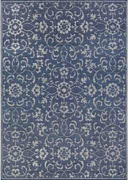 "Couristan MONTE CARLO Blue Runner 2'3"" X 7'10"" Area Rug 23316427023710U 807-127502"