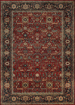 "Couristan OLD WORLD CLASSIC Red 4'6"" X 6'6"" Area Rug 43480400046066T 807-127653"