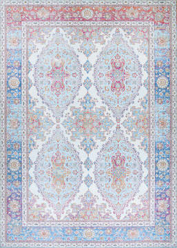 "Couristan PASHA Blue 5'0"" X 8'0"" Area Rug 50820082050080T 807-127753"