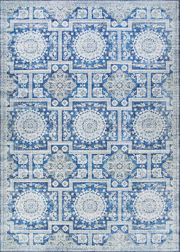 "Couristan PASHA Blue 5'0"" X 8'0"" Area Rug 50770177050080T 807-127757"