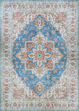 "Couristan PASHA Blue 5'0"" X 8'0"" Area Rug 46480648050080T 807-127761"