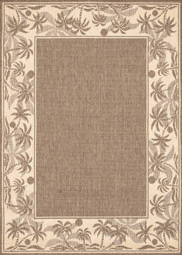 "Couristan RECIFE Brown Square 7'6"" X 7'6"" Area Rug 12220722076076Q 807-128061"