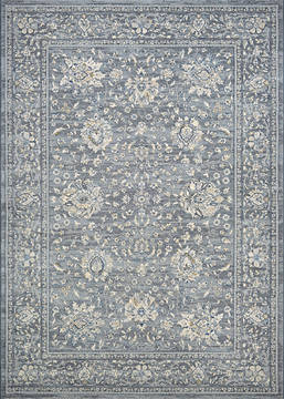 Couristan SULTAN TREASURES Blue Rectangle 8x11 ft Polypropylene Carpet 128570