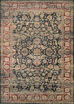 "Couristan ZAHARA Black Runner 2'7"" X 7'10"" Area Rug 11430330027710U 807-128778"